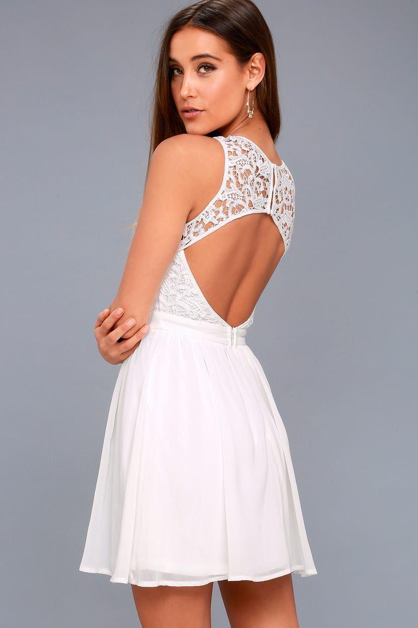 Romantic Tale White Lace Skater Dress White Lace Skater Dress White Short Dress White Dresses For Women [ 1245 x 830 Pixel ]