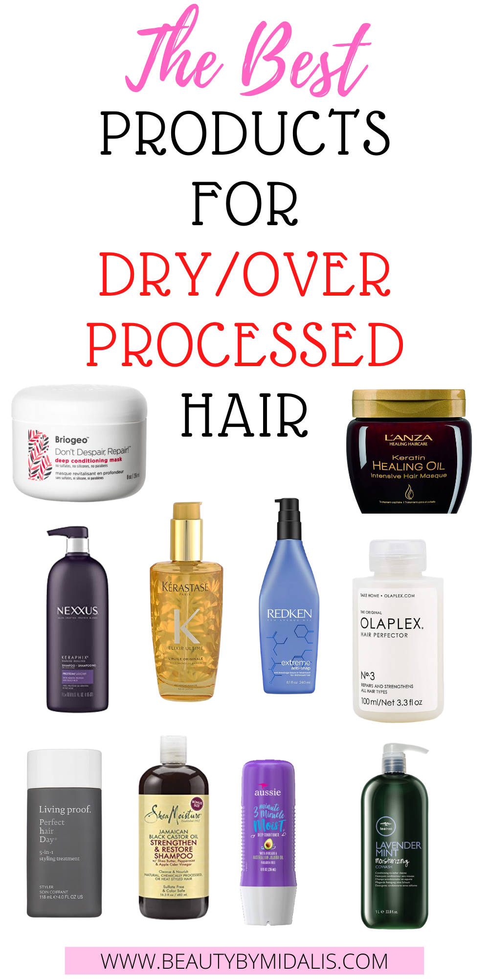 THE BEST PRODUCTS FOR DRY/OVER PROCESSED HAIR in 2020