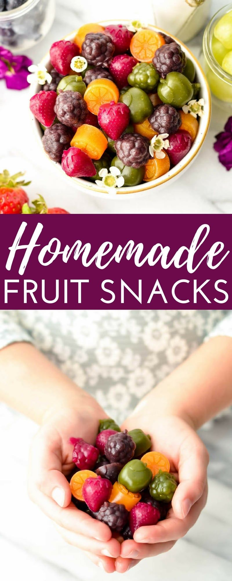 Homemade Fruit Snacks Recipe Made With Whole Fruits Vegetables