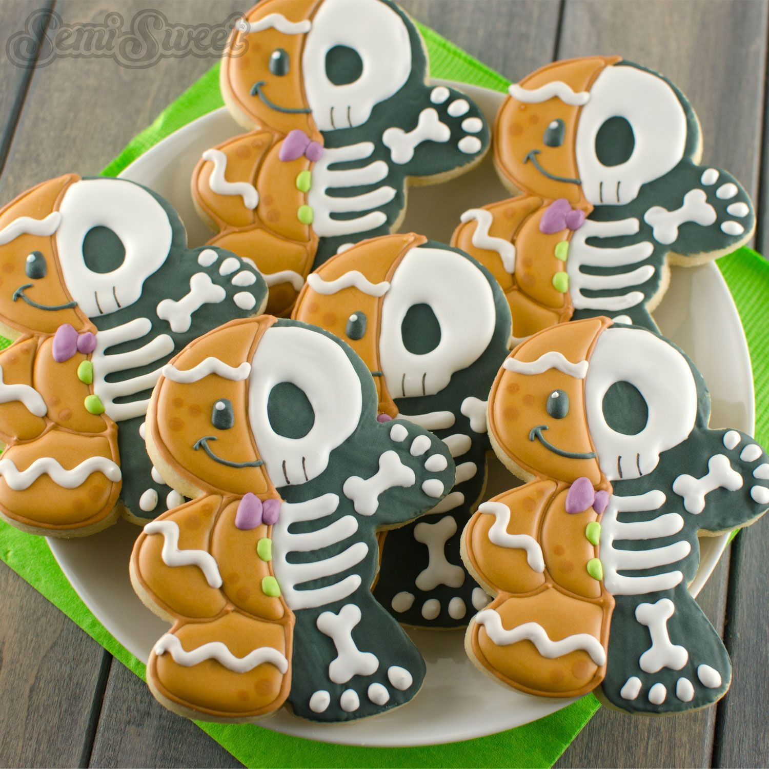 How To Make Gingerbread Man Skeleton Cookies Cookie Cutter Magic