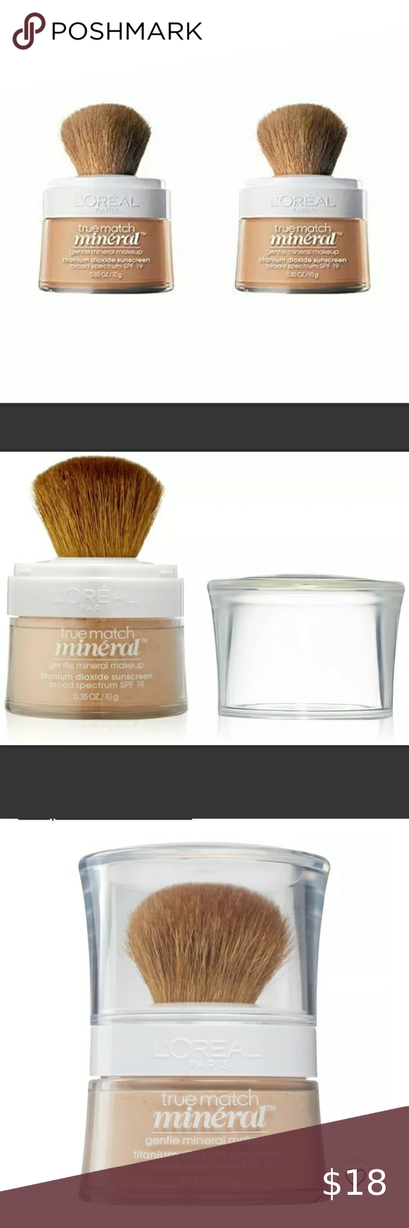 Two (2) L'Oréal Mineral Foundation Light Ivory 458 in 2020