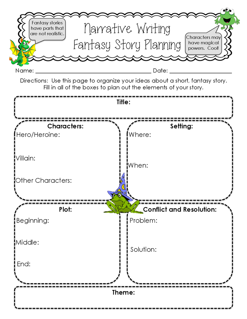 fantasy narrative The quest motif in literature supplemental handout for english 215, fantasy fiction, fall 2010, with nancy howard   narrative romance is the oldest,.