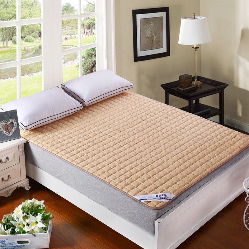 Brief Solid Multicolor Mattress Cover Sanding Polyester Fabric Twin Single Queen Full Double King Size Bedprotection Pad