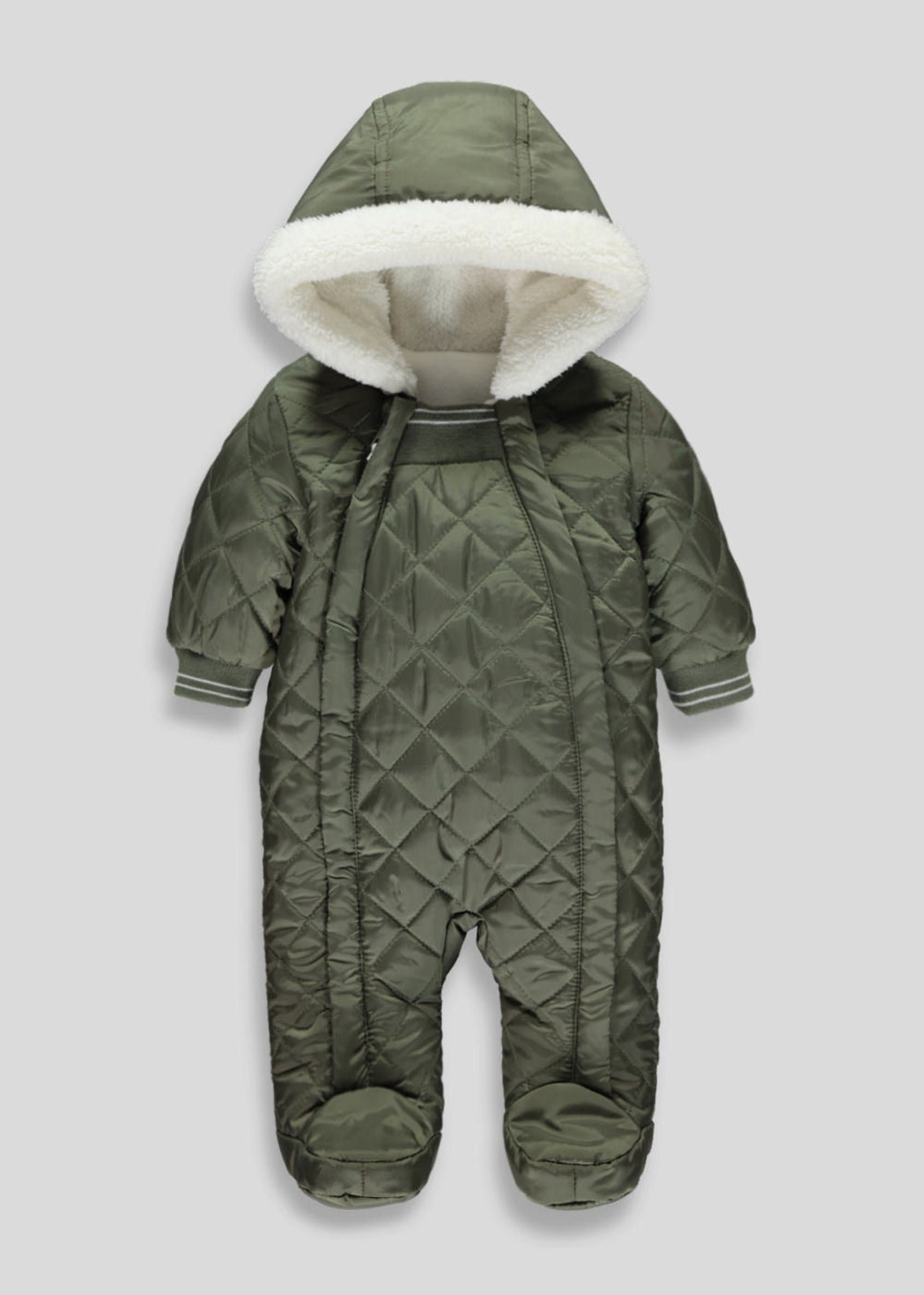 46514cb7e Unisex Quilted Snowsuit (Tiny Baby-18mths)  newbornsnowsuit ...