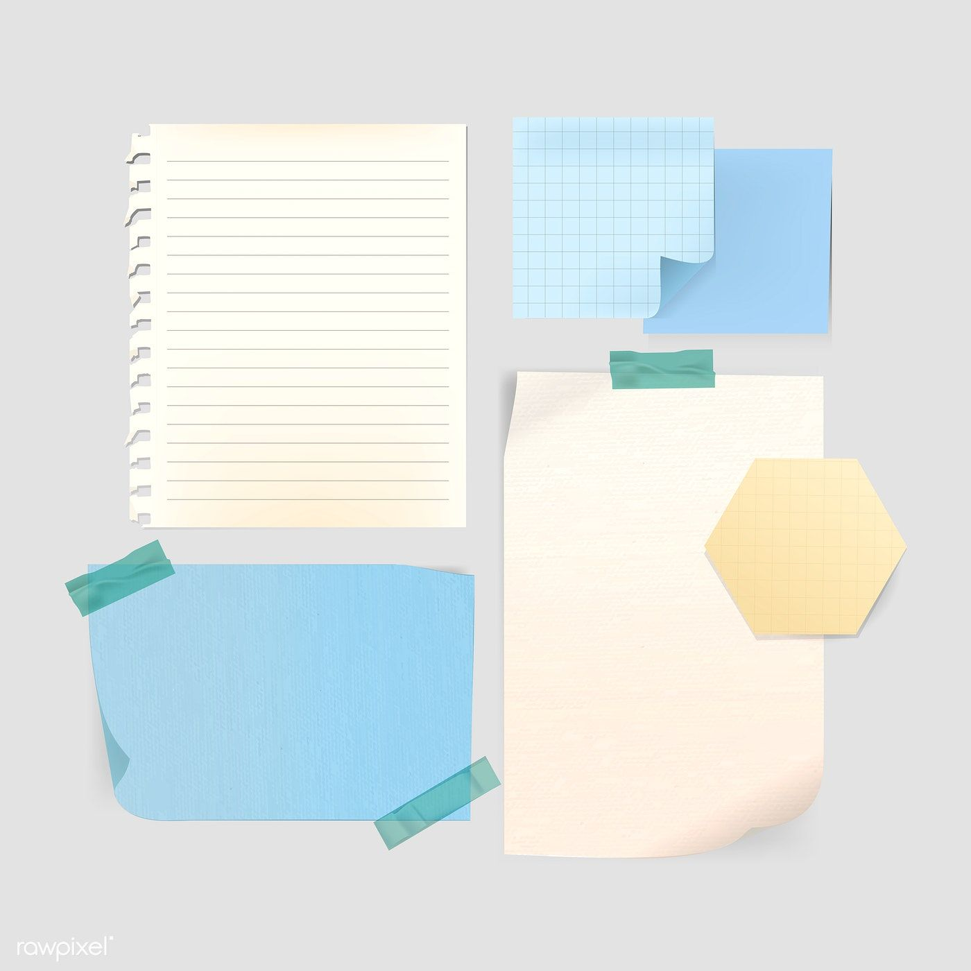Download Premium Vector Of Blank Vintage Note Paper Template Vector Note Paper Paper Template Design Mockup Free