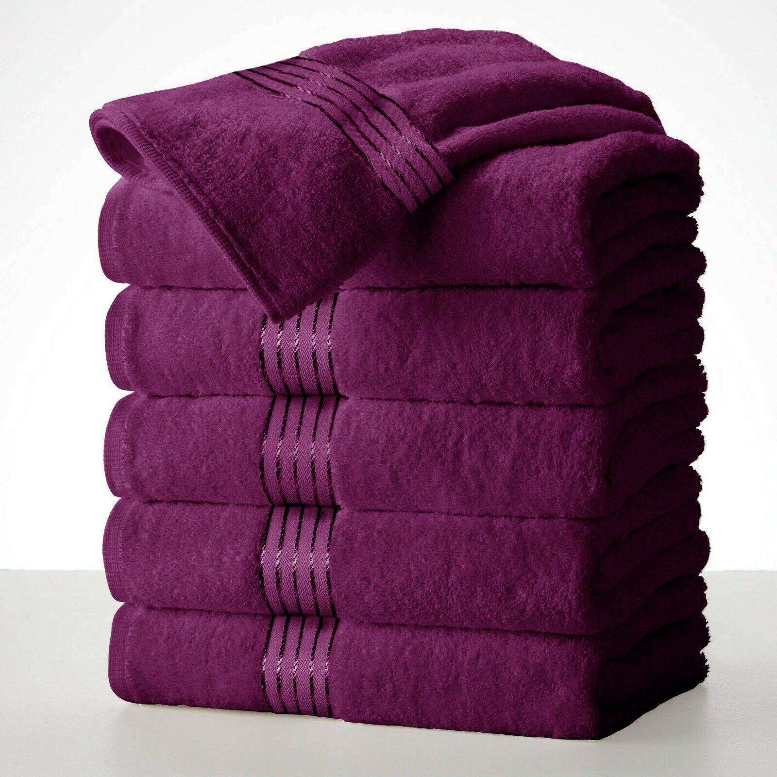 Luxury Silver Gray Bath Towels Packs Sets 100 Cotton 27 X55 500 Gsm Soft Grey Best Bath Towels Purple Towels Bath Towels