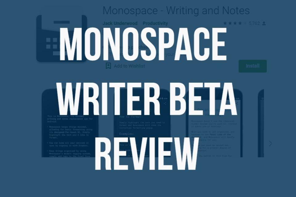 Monospace Writer BETA in 2020 Freewriting, Writer, Beta
