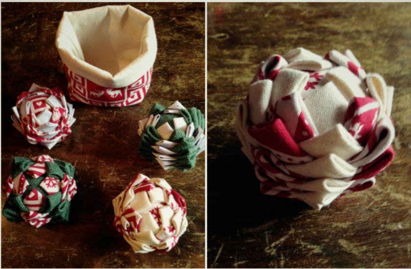 Tuto DIY boule de Noël en tissu - Blog Déco - Clem Around The Corner