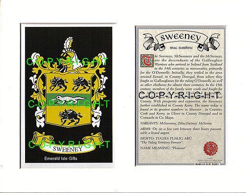 Heraldic mounts sweeney family crest and history 2250 heraldic mounts sweeney family crest and history 2250 sweeney heraldic mount featuring the altavistaventures Gallery