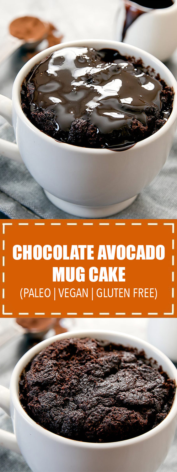 Chocolate Avocado Mug Cake (Paleo, Vegan, Gluten Free ...
