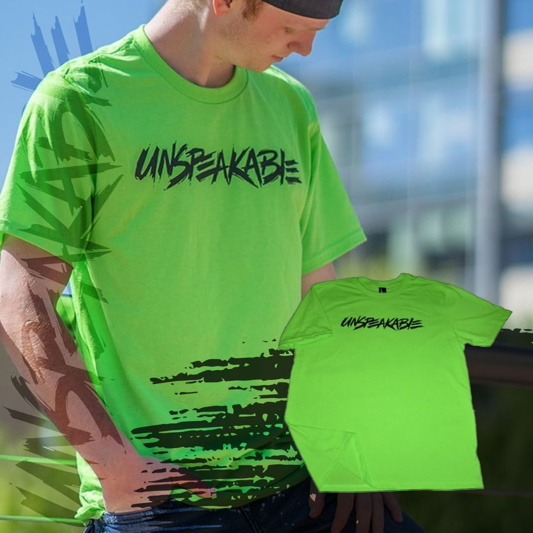 This dark neon green UnspeakableGaming shirt is sure to help