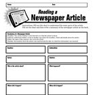 Newspaper Article Summary Form | Student, Graphic organizers and ...