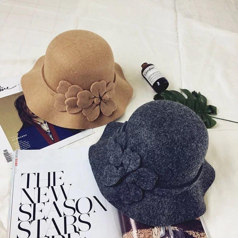 073ad5f86f4cd Woolen lady felt hat