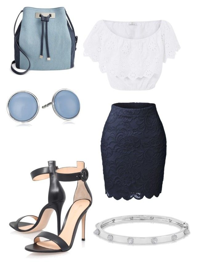 """Untitled #69"" by najia17-2007 on Polyvore featuring Skagen, LE3NO, Miguelina, Gianvito Rossi, Anne Sisteron and INC International Concepts"