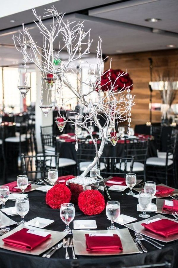 Powerful Red And Black Wedding Décor Ideas | Wedding decor ...