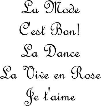 French Phrases Wall Decals French Quotes French Words Wall Phrases