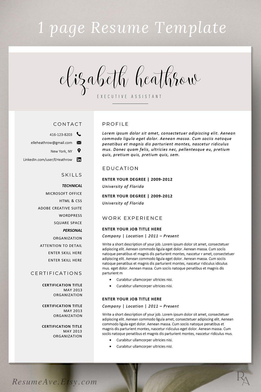 Creative Resume Template Modern Resume Design For Word Etsy Sorority Resume Resume Template Teacher Resume Template