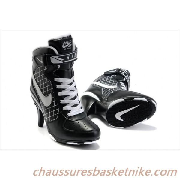 New Women Nike Air Force High Heels Black White Sale Online