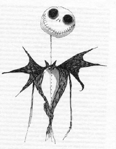Nightmare Before Christmas - see I would love THIS Jack as a tattoo ...