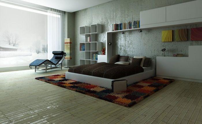 Metallic-Effekt an den Wänden-Ideen zum Schlafzimmer streichen ...