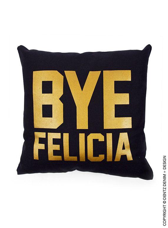 Use Coupon Code Pinterest Bye Felicia Pillow Cover Black Canvas Adorable Pillow Decor Coupon Code