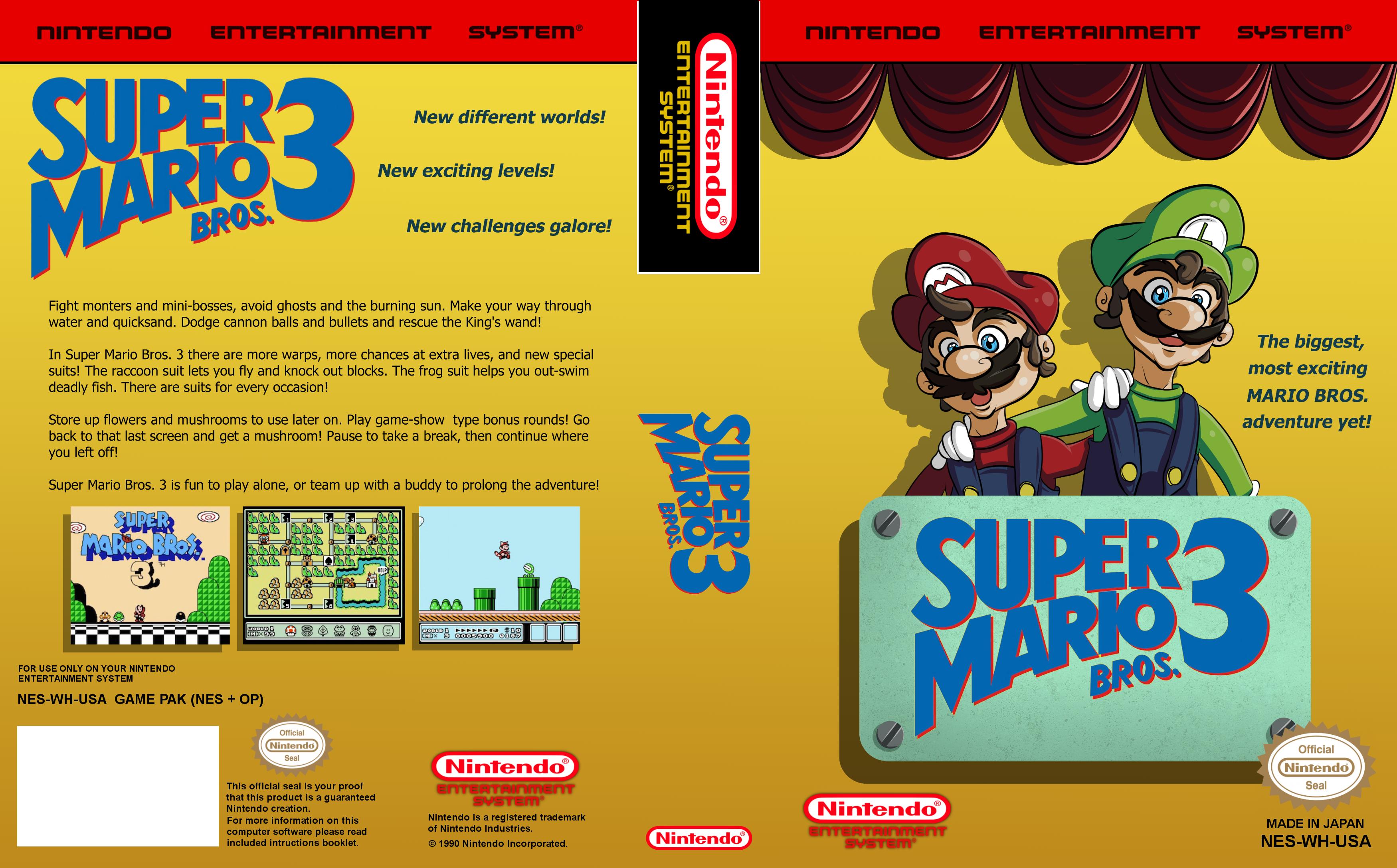 Fan Cover Art For Super Mario Bros 3 Super Mario Bros Super