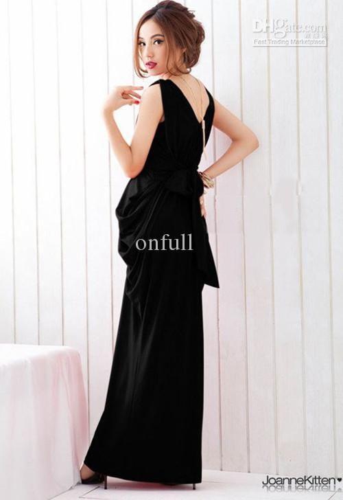 f3d5f96506d Wholesale Seductive Mermaid Maxi Dress Deep V Draped Formal Dresses with  Bow Belt