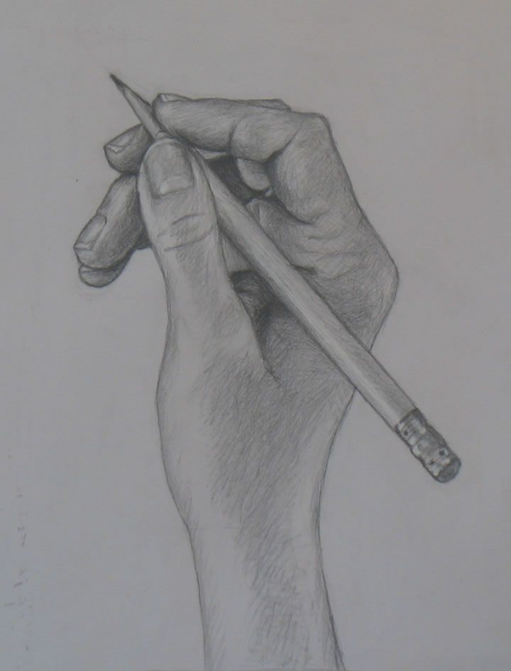 Hand drawing tutorial holding a pencil portrait artist from westchester ny anne bobroff hajal