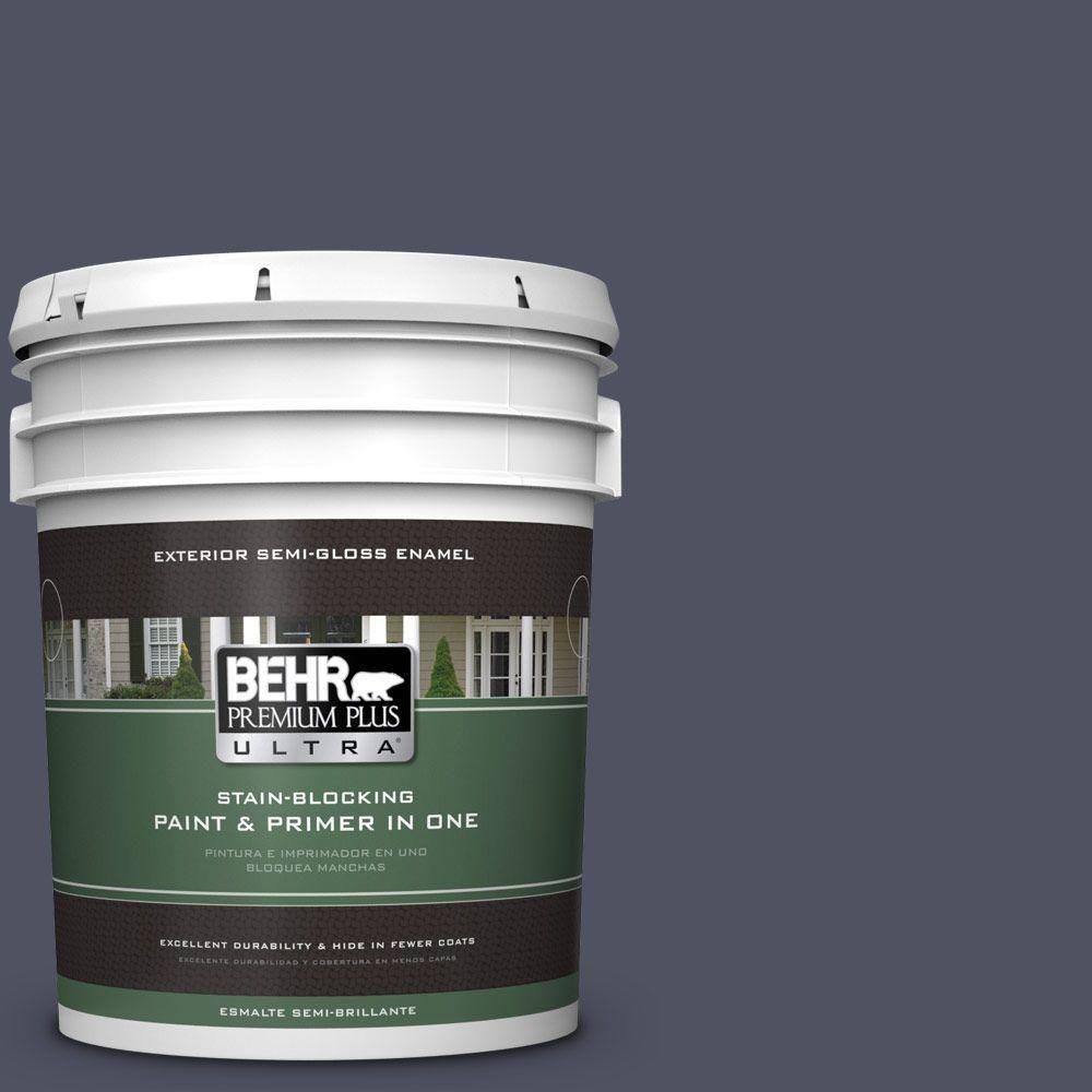 BEHR Premium Plus Ultra 5-gal. #630F-7 Black Orchid Semi-Gloss Enamel Exterior Paint