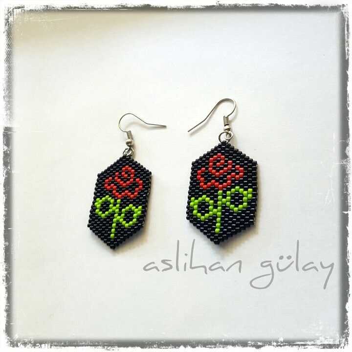 star craftaholique brick make step earrings jewellery how to stitch tutorial decreasing making