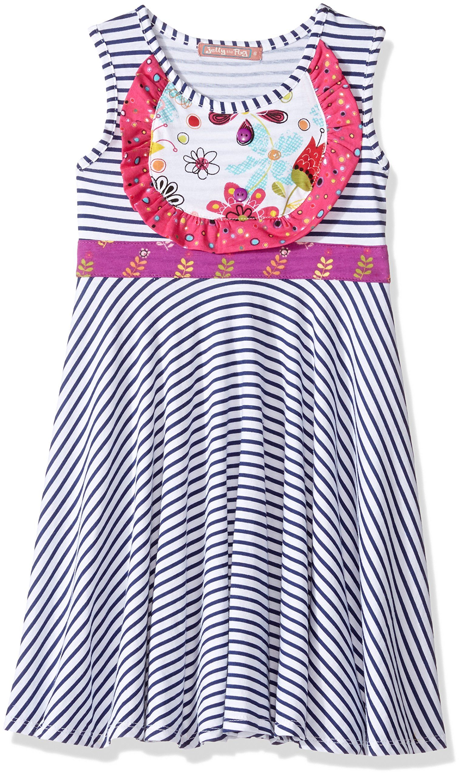 f0b6d25c5b5a Jelly The Pug Little Girls Tulip Lined Priscilla Dress Multi 4 -- More info  could be found at the image url.(It is Amazon affiliate link)   ...