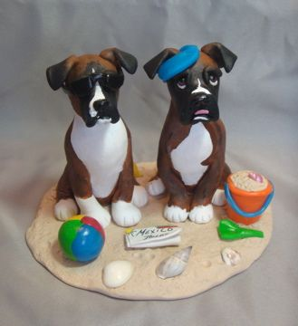 wedding cake topper with boxer dog boxer dogs wedding cake topper cake di 26654
