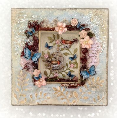 What Shall I Make Today?: Vintage Frame From An Old Christmas Card ...