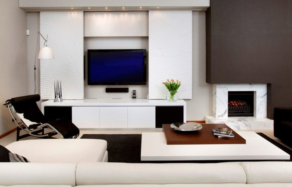 Modern Ways To Seamlessly Hide The Living Room Tv Living Room Designs Living Room Tv Stand Small Tv Room