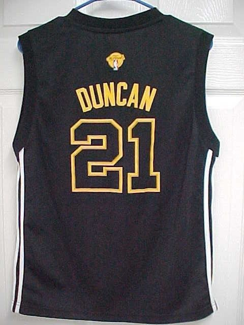 TIM DUNCAN 21 San Antonio Spurs The Finals Boys Black Basketball Jersey L  Adidas  Adidas  SanAntonioSpurs 132159cc5
