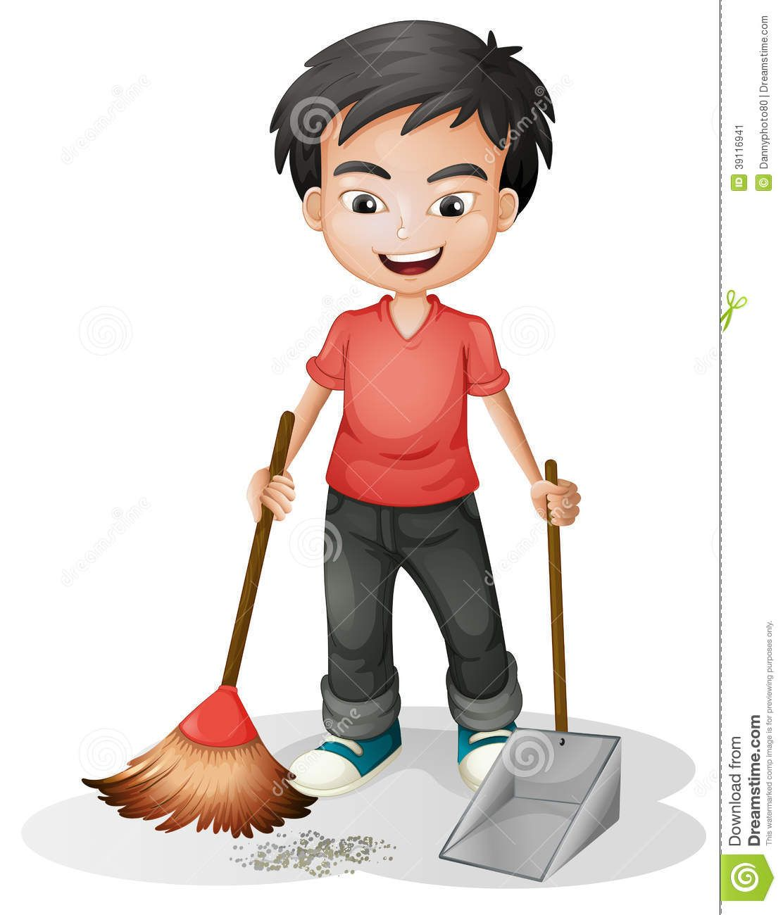 Clipart Of Boy Sweeping Mopping Floor Google Search Classroom Pictures Classroom Cartoon Islamic Cartoon