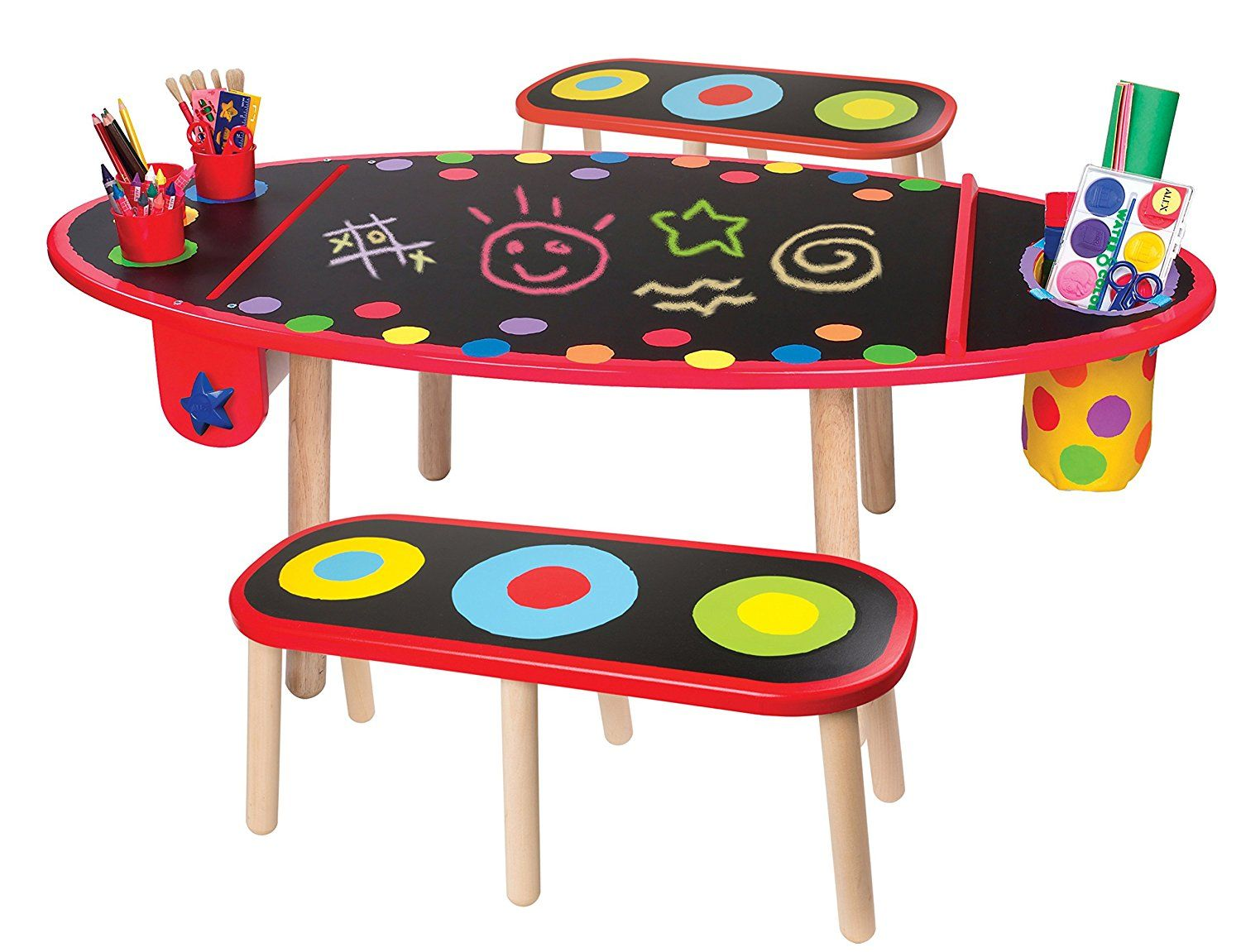 Amazon Com Alex Toys Artist Studio Super Art Table With Paper Roll Toys Amp Games Toddler Art Table Art Table Kids Wooden Table