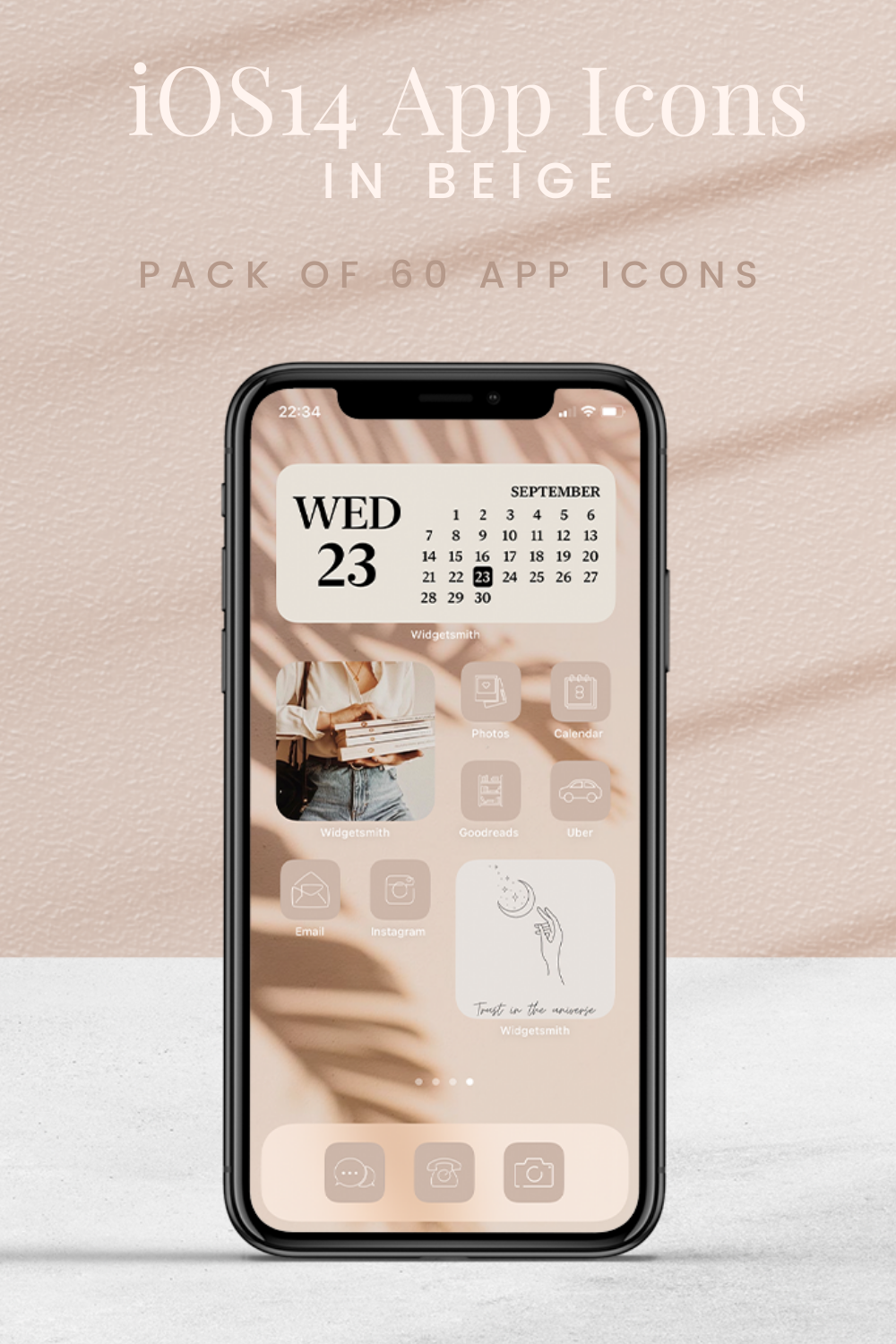 App Icon Bundle Beige For Iphone Ios 14 Instant Download In 2020 App Icon Iphone Organization Homescreen Iphone