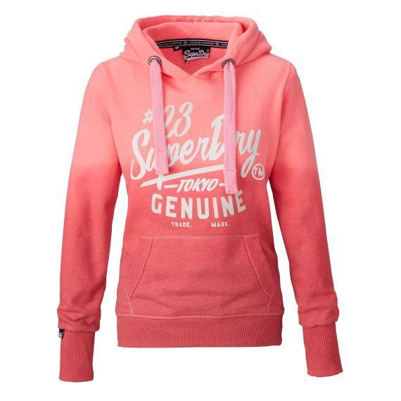 Kapuzensweatshirt, Farbverlauf, Frontprint, sportlich Vorderansicht