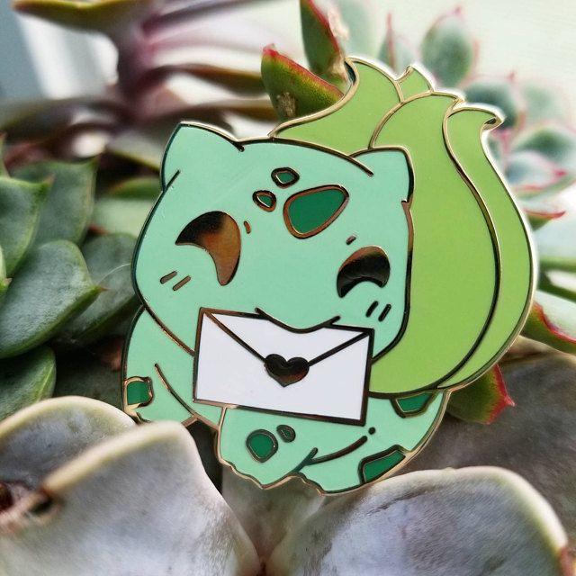 Messenger Pokemon Pins made by PettyBonesClub -