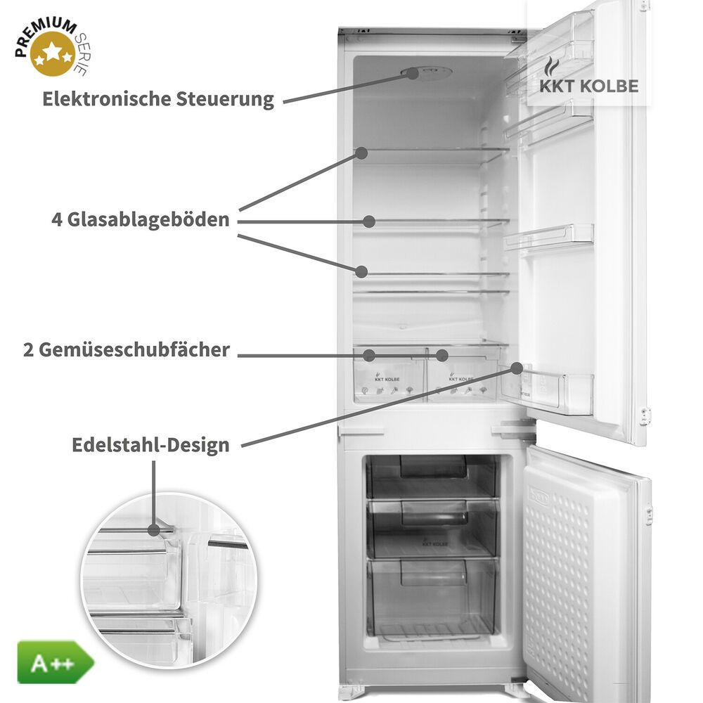 Einbau Kühlschrank A Kühl/Gefrierkombination 177cm/178cm