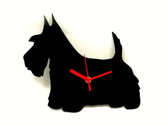 Scottie Wall Clock 26 All Things Terriers Pinterest
