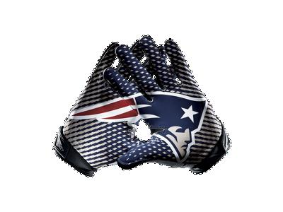 Nike Vapor Jet 2.0 (NFL Patriots) Men's Football Gloves ...