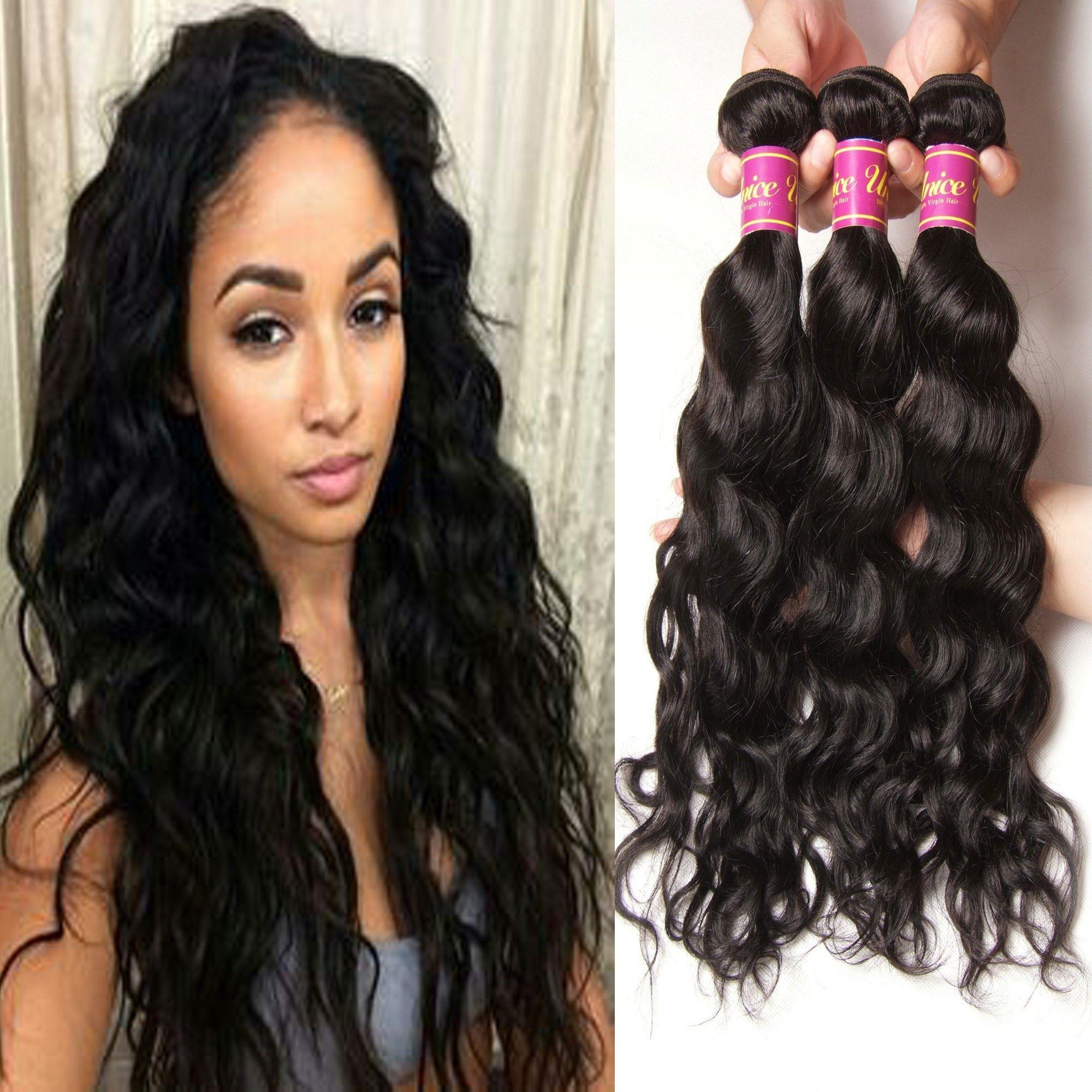 Hair Icenu Series Peruvian Human Hair Bundles Natural Wave 3pcslot
