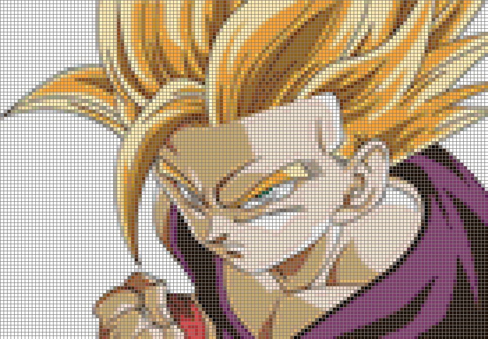 Dragonball Z Gohan Ssj 2 75 Colors Cross Stitch Pattern