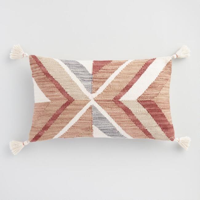Our Exclusive Lumbar Pillow Transforms Any Indoor Or Outdoor Seating Scene With Its Desert Inspired Motif Throw Pillows Lumbar Pillow Decorative Throw Pillows