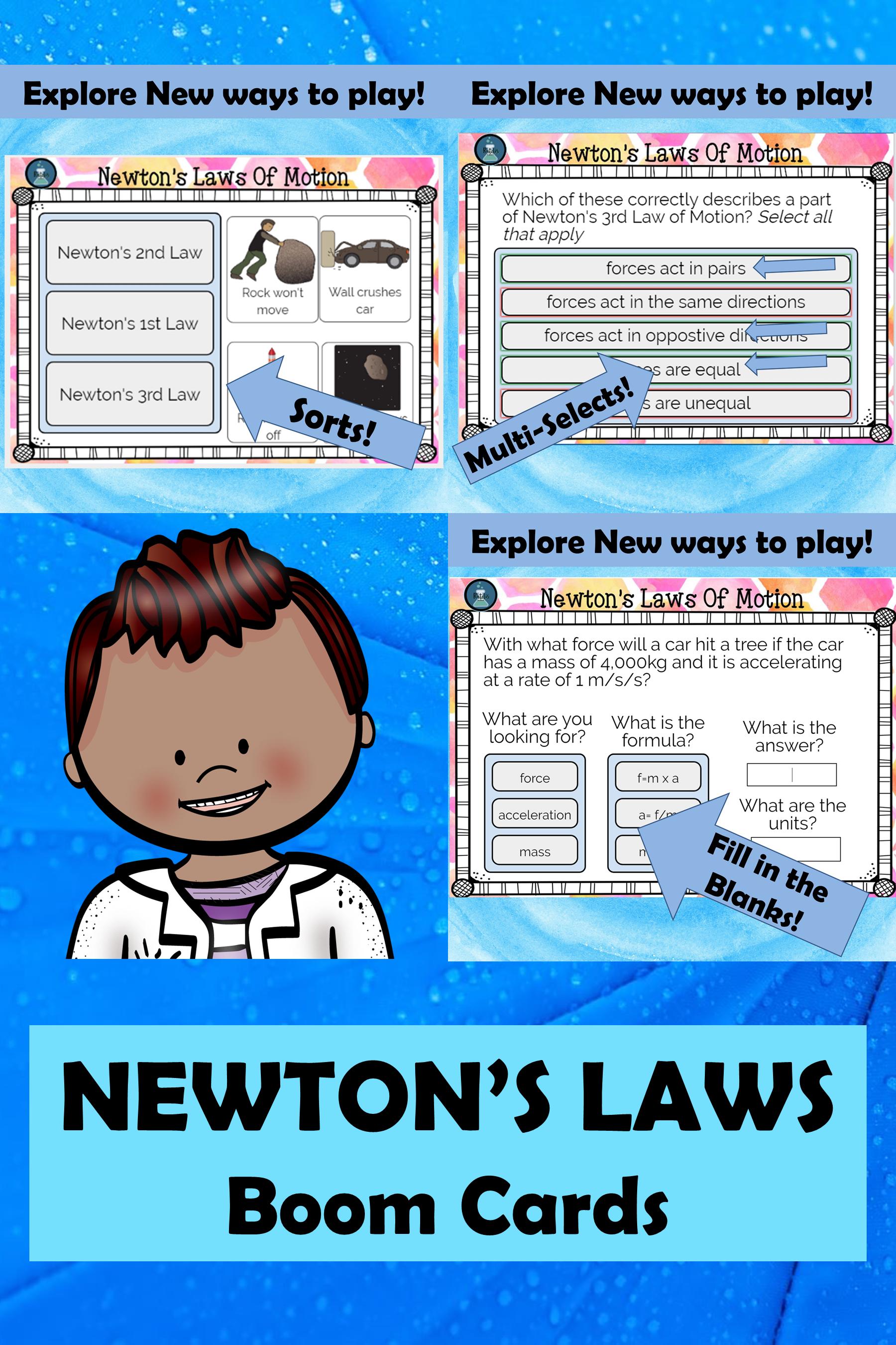 Newton S Laws Digital Task Cards In