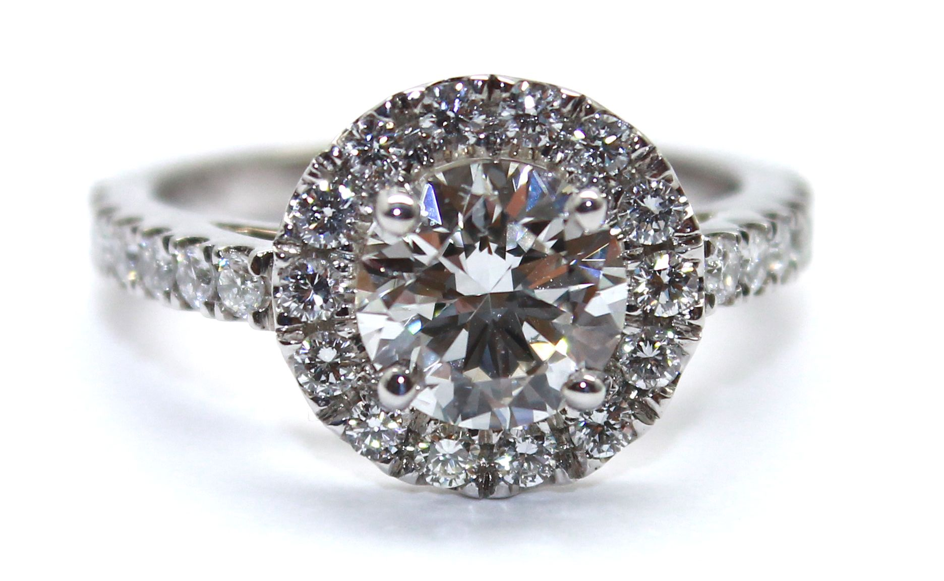 One of the many stunning diamond engagement rings we make