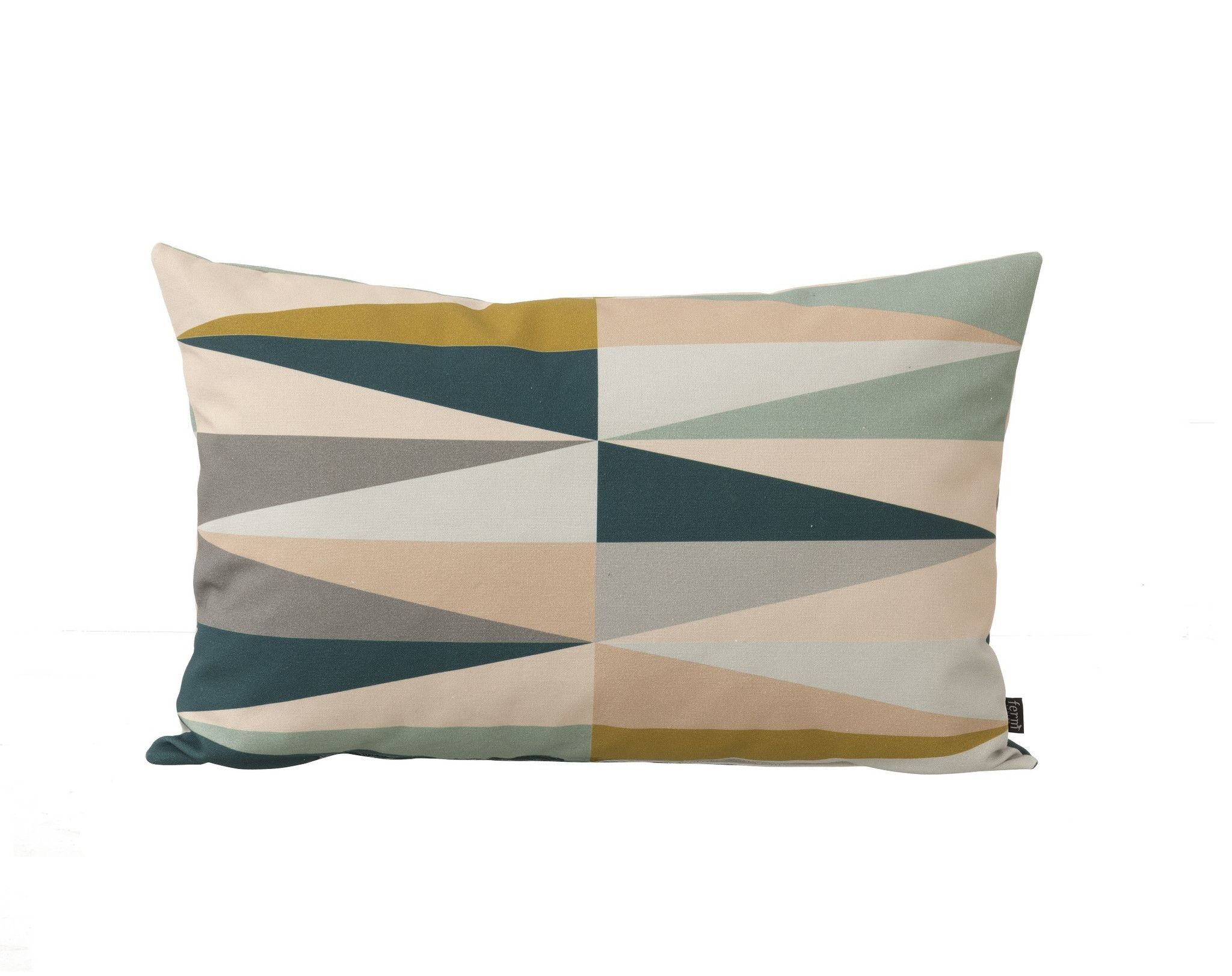 Printed Linen Throw Pillow Multi Spear