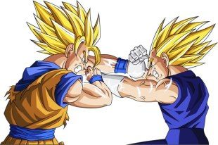 Goku Vs Vegeta In Dragon Ball And Other Versions Are Two Characters Have Extraordinary Capabilities But Antagonistic